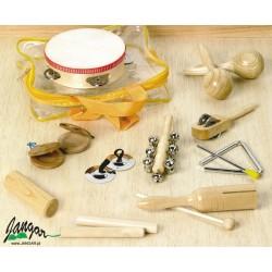 Zestaw 10 różnych instrumentów perkusyjnych