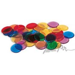 Liczmany transparentne, 6 kolorów, 250 szt.