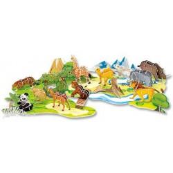 Zestaw do tworzenia 3-wymiarowych modeli zwierząt Zoo