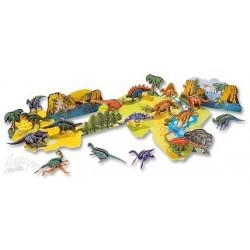 Zestaw do tworzenia 3-wymiarowych modeli zwierząt Dinozaury