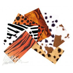 Zestaw kolorowych papierów imitujących skóry zwierząt (9)