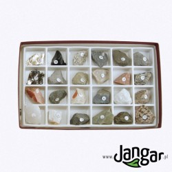 Zestaw skał i minerałów skałotwórczych