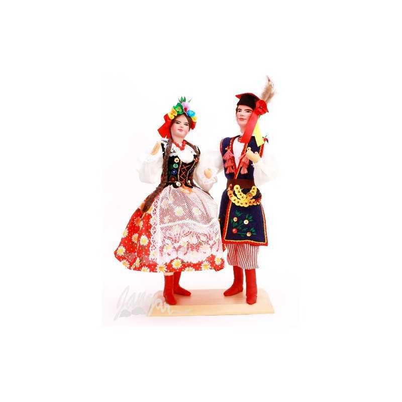Krakowianie – lalki w stroju ludowym