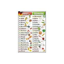 Plansza ścienna: Obst und Gemüse (j. niemiecki)