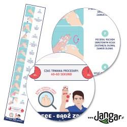 Myj ręce, bądź zdrowy! 12 kroków - mata podłogowa 60 x 350 cm