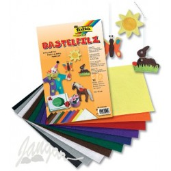 Zestaw 10 kolorowych arkuszy filcu
