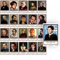 Komplet 21 plansz: Portrety pisarzy polskich