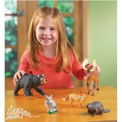 Zwierzęta leśne – zestaw 5 wielkich modeli