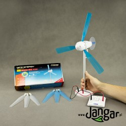 Turbina wiatrowa / Energia wiatru - działający model demonstracyjny