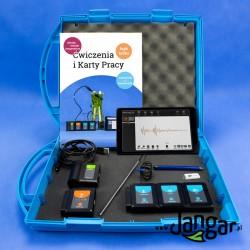 Zestaw walizkowy do eksperymentów z czujnikami, tabletem i modułem WiFi MOD57