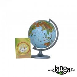 Globus zoologiczny, niepodświetlany, średnica 22 cm