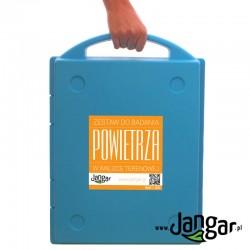 Zestaw do badania powietrza w walizce terenowej