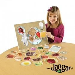 Zdrowe jedzenie na talerzu – 34 magnetyczne elementy