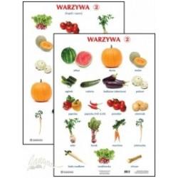 Plansza ścienna: Warzywa 2, 2-stronna