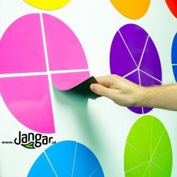 Kolorowe koła-ułamki magnetyczne
