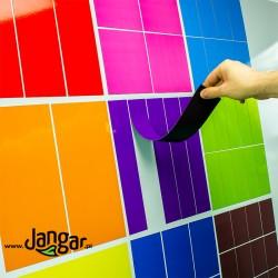 Kolorowe kwadraty-ułamki, magnetyczne