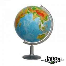 Duży globus fizyczny, średnica 42 cm