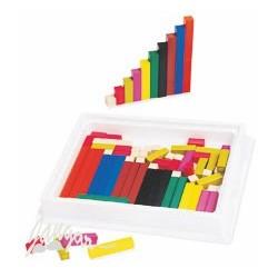 Klocki Cuisenairea (liczby w kolorach) – zestaw
