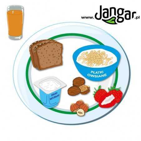 Jedz mądrze - zdrowe jedzenie na twoim talerzu, talerz z jedzeniem