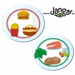 Jedz mądrze - zdrowe jedzenie na twoim talerzu, talerze z jedzeniem