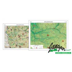 Mapa ścienna regionalna, 160x120 cm: Wielkopolska