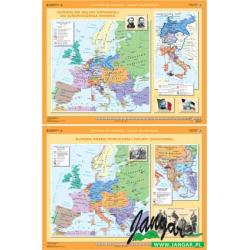 Mapa: Europa od wojny krymskiej do zjednoczenia Niemiec / Europa przed wybuchem I wojny światowej