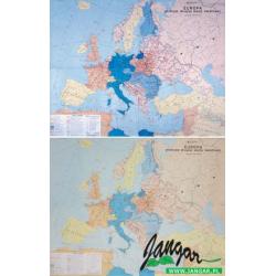 Mapa: Europa podczas drugiej wojny światowej (płótno)