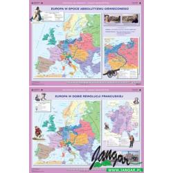 Mapa: Europa w epoce absolutyzmu oświeconego / Europa w dobie rewolucji francuskiej