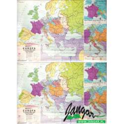 Mapa: Europa w latach 1789-1814 (płótno)