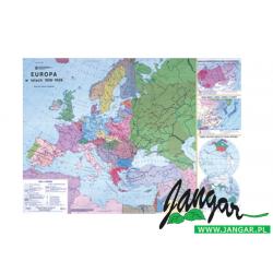 Mapa: Europa w latach 1918-1939 (płótno)