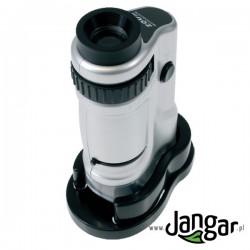 Mikroskop ręczny LED ze stolikiem, 20x-40x