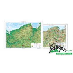 Mapa ścienna regionalna, 160x120 cm: Pomorze