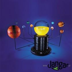 Model układu słonecznego z planetarium