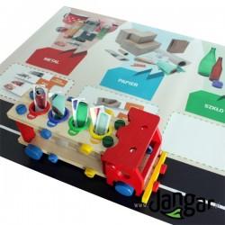 Ciężarówka: sortowanie i recykling kolorowy zestaw interaktywny