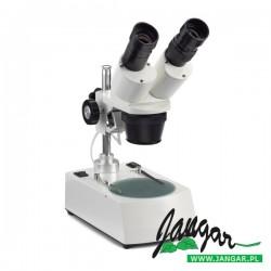 Mikroskop stereoskopowy 20x/40x-LED, podświetlany (światło dolne i górne)