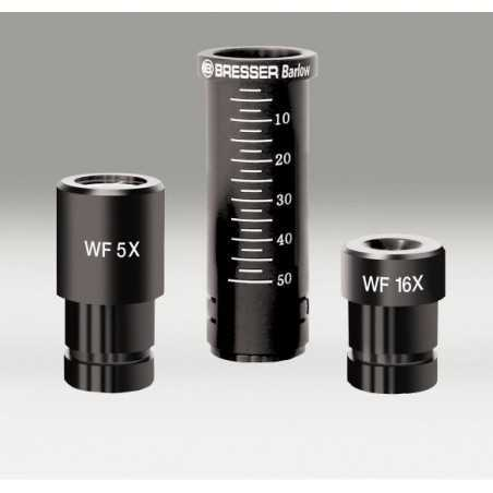 Mikroskop 20x-1280x z okularem cyfrowym, w walizce