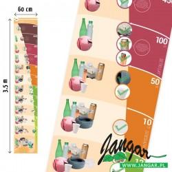 Edukacyjna mata podłogowa 3,5 m x 0,6 m. Rozkład odpadów niesegregowanych w czasie