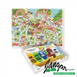 Kolorowy świat odpadów edukacyjna gra planszowa