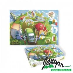 Recykling odpadów edukacyjne puzzle