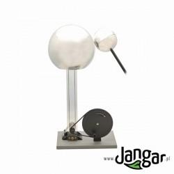 Generator van de Graaffa z elektrodą kulistą i napędem ręcznym