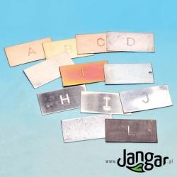 12 płytek-typów metali