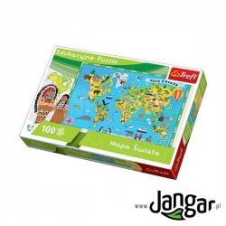 Puzzle: Mapa Świata dla dzieci