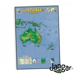 Plansza ścienna: Australia i Oceania, mapa