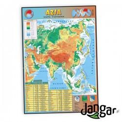 Plansza ścienna: Azja, mapa