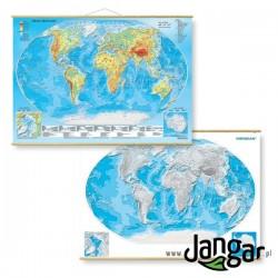 Mapa DUO Świat z elementami ekologii / Mapa Hipsometryczna