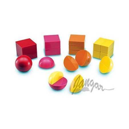 Magnetyczne bryły-ułamki, zestaw 20-elementowy