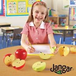 Magnetyczne jabłka-ułamki, 4 sztuki