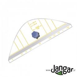 Wzornik tablicowy do rysowania paraboli (sin a)
