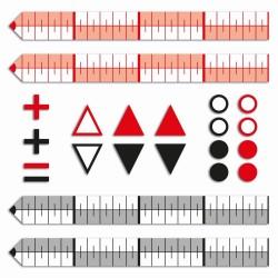 Oś liczbowa / Układ współrzędnych – magnetyczny zestaw