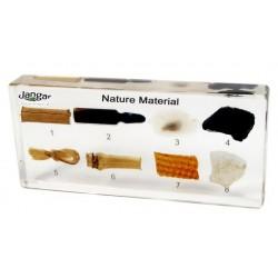Materiały naturalne - 8 okazów zatopionych w tworzywie